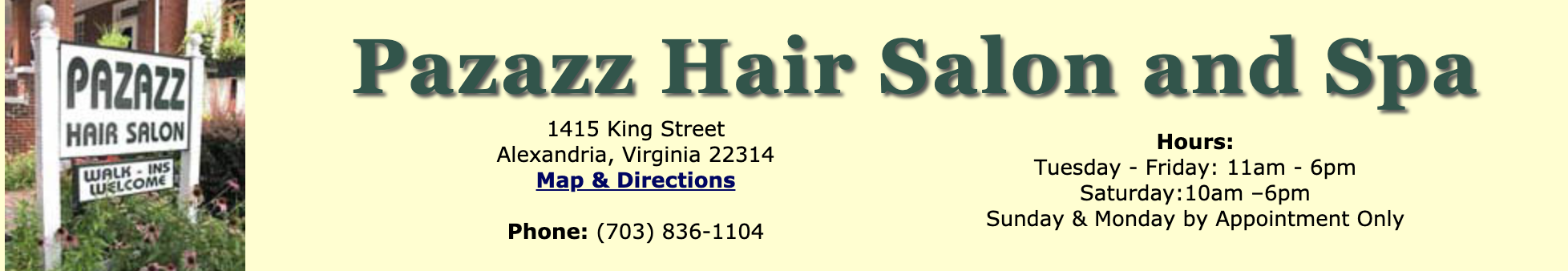 Pazazz Hair Salon and Spa | Old Town Alexandria, Virginia